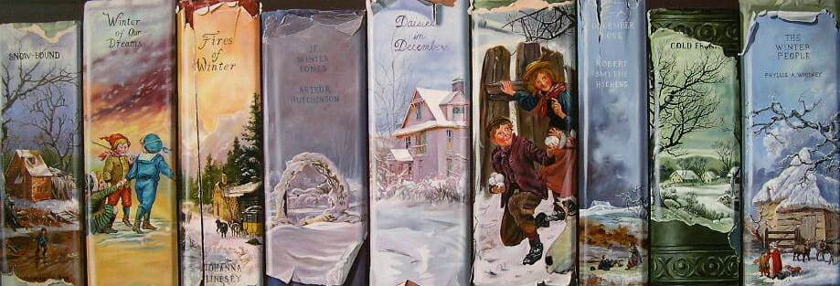 Winter Books. Oil on masonite © Sharon Craven Kinzer