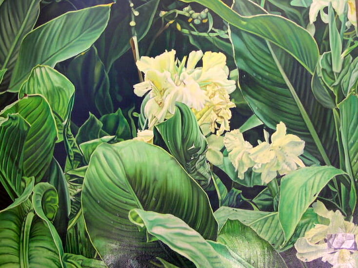 "Orchids, Oil, 20"" x 26"" © Sharon Craven Kinzer"