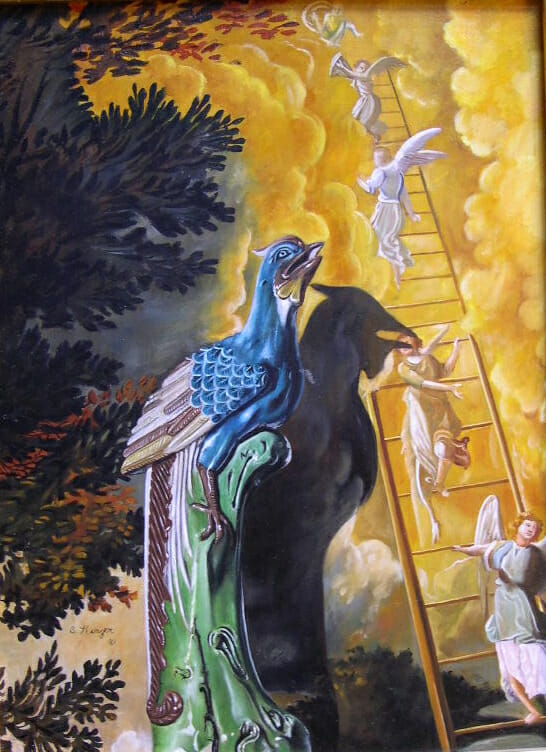 Ladder to Heaven. Oil on masonite © Sharon Craven Kinzer