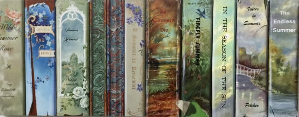 Summer Books. Oil on Masonite @ Sharon Craven Kinzer